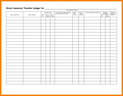 5 Stock Transfer Ledger Template Excel Ledger Review Stock Transfer Ledger Template Excel