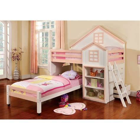 furniture of america bunk beds furniture of america elwood twin over twin bunk bed in
