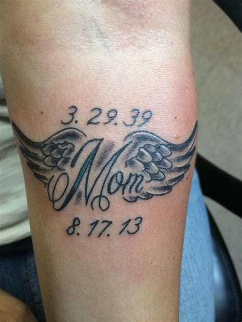 rip mom tattoo that i just got in memory of my who just