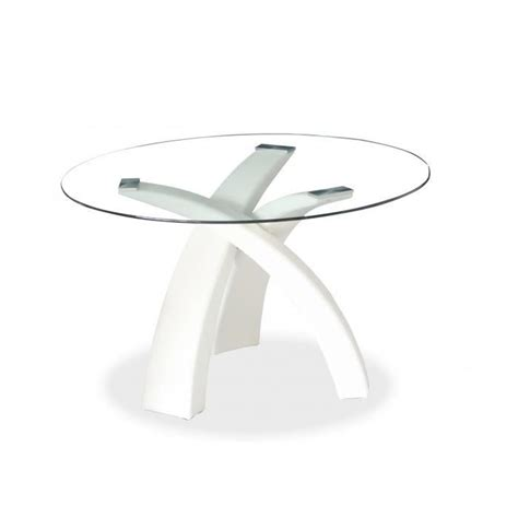 table ronde design blanche table 224 manger ronde blanche achat vente table