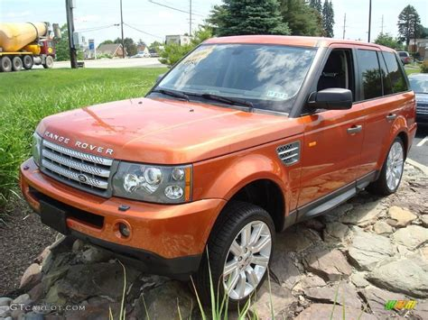 orange range rover sport 2006 vesuvius orange metallic land rover range rover sport