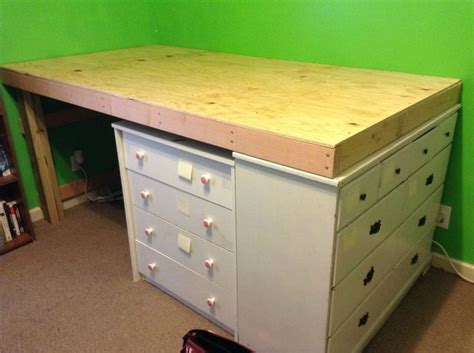 Diy Loft Bed With Dresser by Diy Space Saver Loft Bed Around The House Crafts