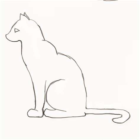 Two Cats Outline by Drawing Simple 3d Myideasbedroom