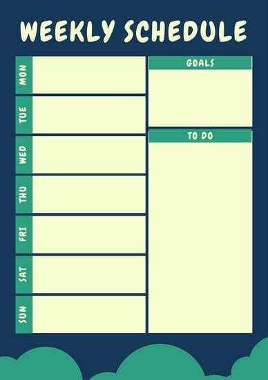 canva schedule weekly schedule planner templates canva