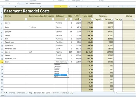 Template Renovation Planner Template Free Office Renovation Project Plan Template