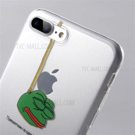Frog Tpu For Iphone transparent clear patterned tpu for iphone 7 plus 5 5 inch frog hanging tvc mall