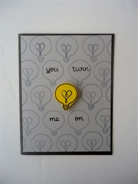 Love From Me Gift Card - you turn me on card love anniversary funny and sweet handmade light bulb heart