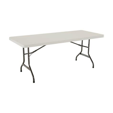 Lifetime 6 Foot Folding Table Lifetime 6 Ft Almond Folding Utility Table 22900 The Home Depot