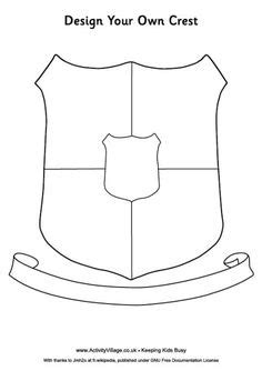 coat of arms template for students make your own coat of arms search heraldiek