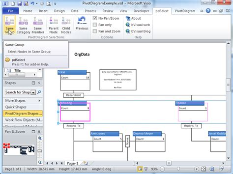 microsoft visio description 28 images selecting nodes in visio pivotdiagrams bvisual for