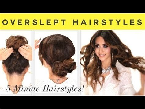 quick and easy hairstyles for school step by step on dailymotion 3 easy overslept hairstyles school braid curls