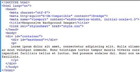 html background image size tutorial on responsive background images using background