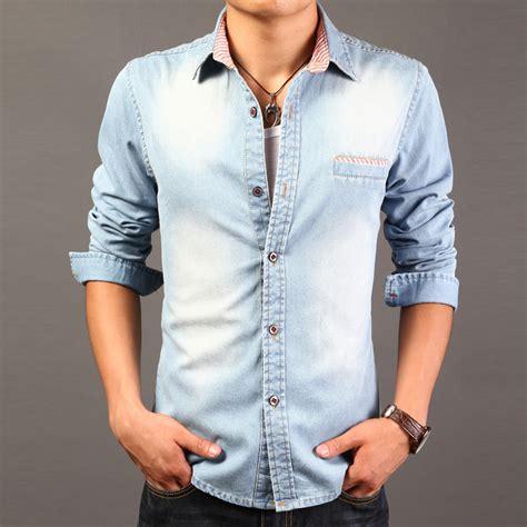 Kemeja Denim Boy 2015 high quality sleeve denim shirts casual