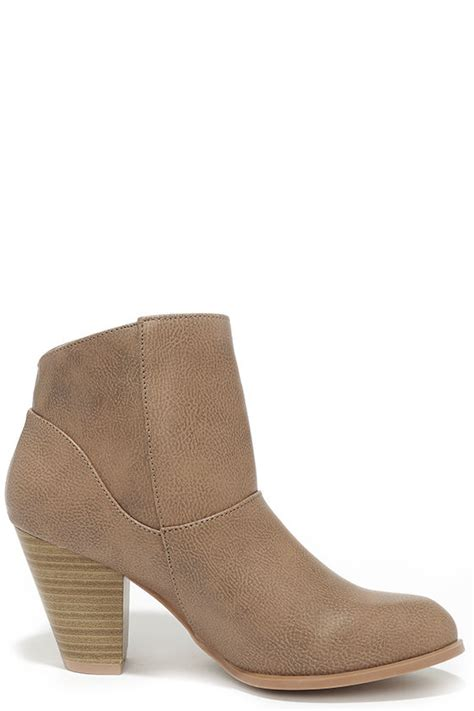 ankle boots high heel booties taupe boots 39 00
