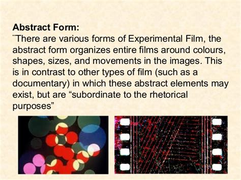 Themes In Experimental Film | experimental film