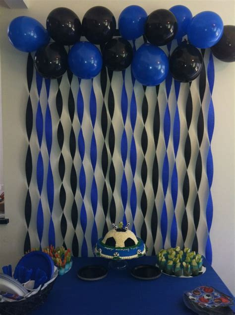 party themes with blue soccer party decoration fiesta de cumplea 241 os boca
