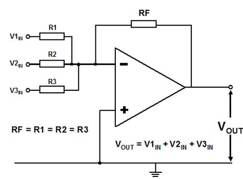 summing with resistors summing lifier summing lifier as the title implies