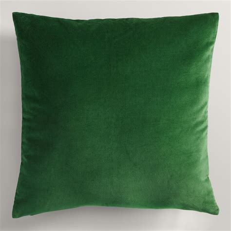 Green Toss Pillows green velvet throw pillow world market