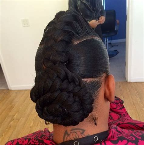 black hair styles with goddess braid or french braid 60 inspiring exles of goddess braids