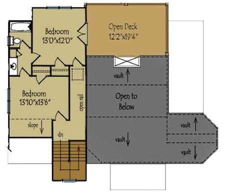 custom mountain home floor plans mountain home plan with vaulted ceiling second floor plan