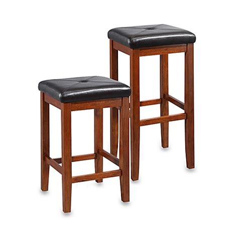 crosley upholstered square seat bar stools set