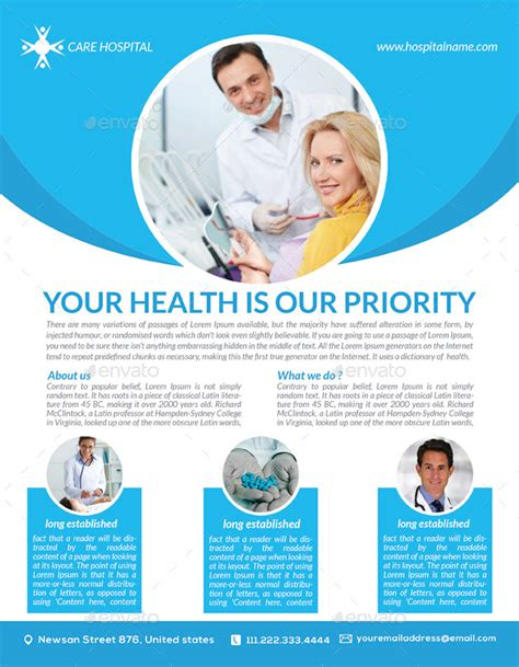 Health Care Flyer Template Free Health Care Flyer Templates By Graphicshint Graphicriver