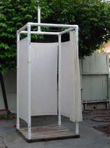Outdoor Shower Enclosures Kit - 11 pvc diy camping projects you ll want for this summer