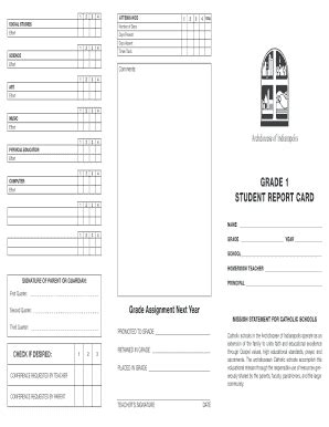 Catholic Report Card Template by Report Card Template Forms Fillable Printable Sles