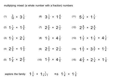Multiplying Mixed Numbers Worksheet by Free Coloring Pages Of Mixed Numbers