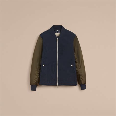 Dickens Bomber Dual Tone Jacket two tone shape memory taffeta bomber jacket in ink burberry