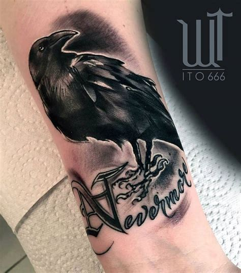 black crow tattoo pictures to pin on pinterest tattooskid