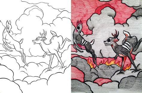 coloring book corruptions guest post hell stag coloring book corruptions