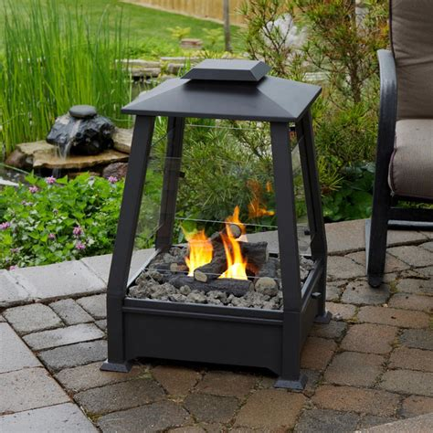 real flame sierra outdoor fireplace contemporary