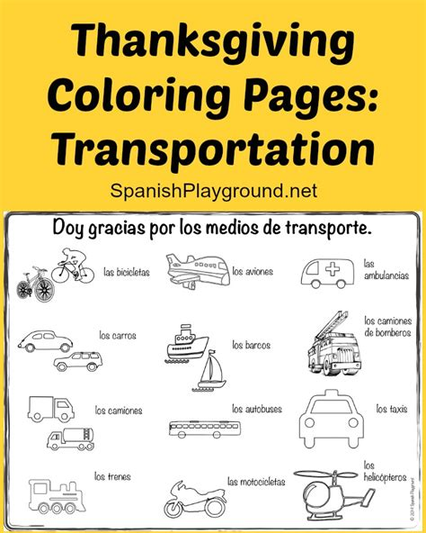thanksgiving coloring page in spanish naming body parts coloring pages