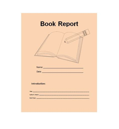 book templates for 30 book report templates reading worksheets