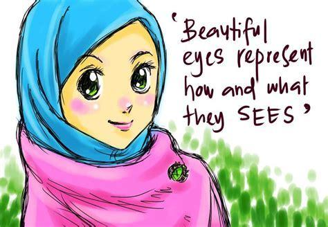 Gambar Wanita Hijab Kartun Keren Gambar Kartun Wanita Muslimah
