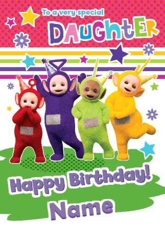 teletubbies cards teletubbies birthday card special funky pigeon