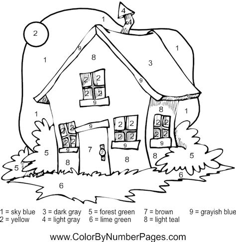 Search On By Number Gingerbread House Color By Number Search Results Calendar 2015