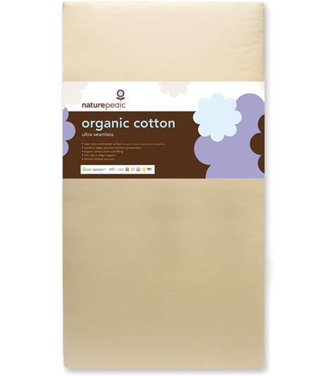 Naturepedic No Compromise Organic Crib Mattress Naturepedic No Compromise Organic Cotton Ultra 252 Seamless Crib Mattress