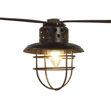 string lights for cer awning better homes and gardens 10 count vintage cage lantern