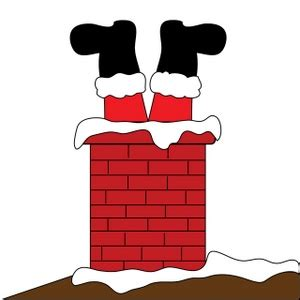 free chimney clipart image santa claus stuck in the