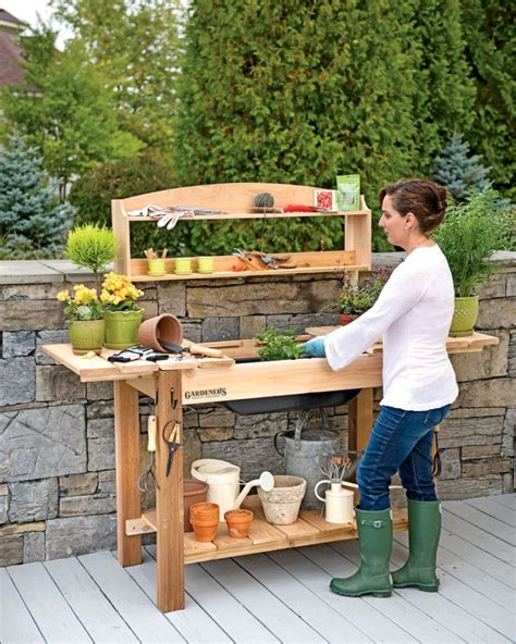 planting bench plans 58 awesome potting benches for every gardener shelterness