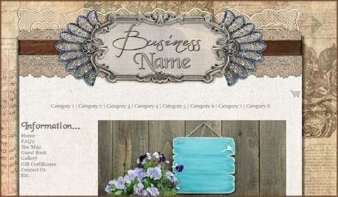 Rustic Elegance Web Design Template Shabby Lane Shops Web Design Rustic Website Template