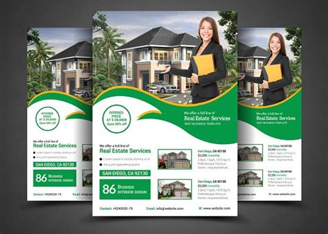 real estate for sale flyer template real estate real estate flyer template templates creative market