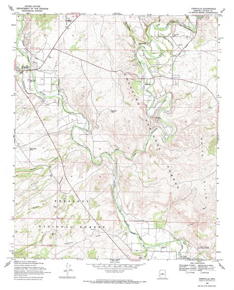 arizona topographical map cornville topographic map az usgs topo 34111f8