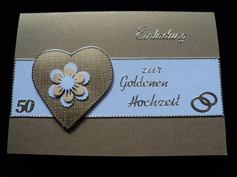Goldene Hochzeit Einladung by Goldene Hochzeit Einladungskarten Selbst Gestalten
