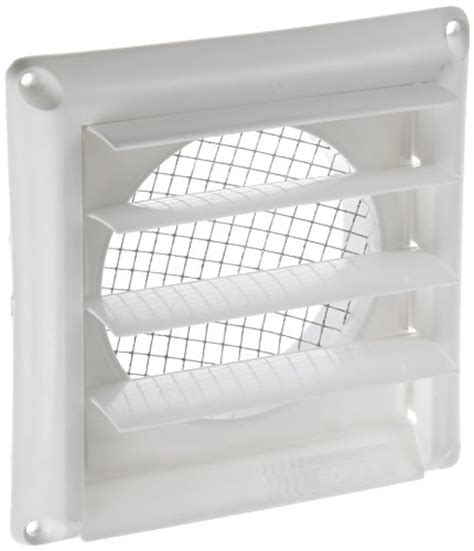 imperial 4quot louvered vent cap with metal screen white gg