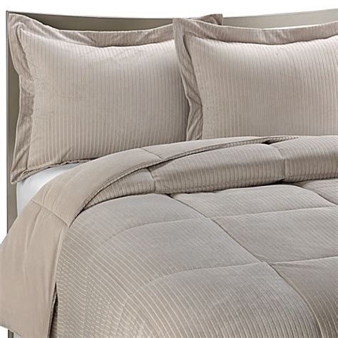 luxe bedding luxe stripe reversible down alternative twin bedding set