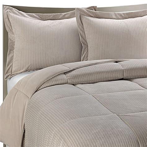 bed bath beyond down comforter luxe stripe reversible down alternative twin bedding set