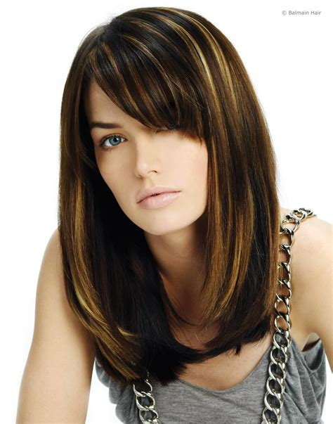 photos of weaves and streaking in hair highlighting extensions attachment that blends with the